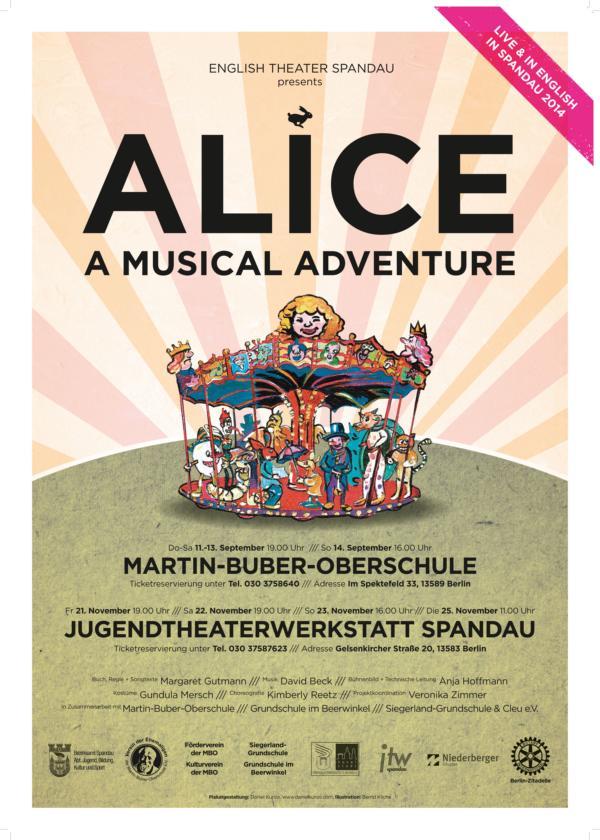 Alice in Wonderland zu Gast in der jtw spandau